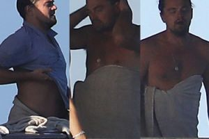 Leonardo DiCaprio i jego PIWNY BRZUCH na jachcie (ZDJĘCIA)