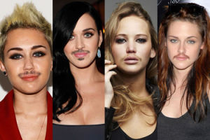 Gdyby celebrytki miały wąsy... (ZDJĘCIA)