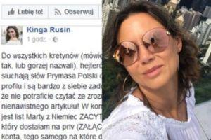 """Kinga Rusin do internautów po awanturze o wpis: """"KRETYNI, hejterzy, idźcie przeprosić za to do kościoła!"""""""