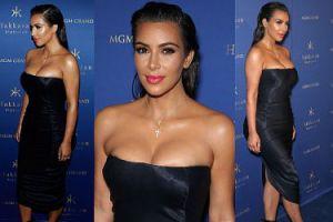 Kim Kardashian w BARDZO obcisłej sukience... (ZDJĘCIA)