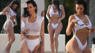 """Kim wypina się w białym """"kostiumie"""" (ZDJĘCIA)"""