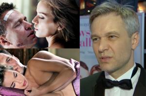 """Żebrowski o scenach erotycznych: """"To okropne. Mam 45 lat, siwe włosy, a muszę się całować, dyszeć i sapać!"""""""