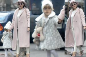 44-letnia Justyna Steczkowska w pastelach na spacerze z córką (ZDJĘCIA)