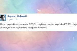 Majewski śmieje się z Małgorzaty Rozenek