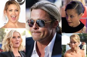 """Do samotnego Brada Pitta """"odezwały się wszystkie byłe dziewczyny""""! Hudson, Lewis, Applegate, Paltrow..."""