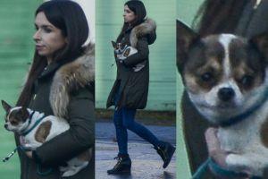Marta Kaczyńska z psem po rozprawie rozwodowej (FOTO)