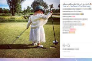Wendzikowska zabrała córkę na pole golfowe