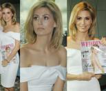 Na premierę magazynu Agnieszki Hyży przyszła... tylko jej koleżanka Viola Piekut (ZDJĘCIA)
