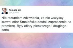 """Lis o Smoleńsku: """"Były ofiary pierwszego i drugiego sortu"""""""