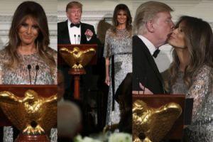 Melania Trump na kolacji w sukience za 8 TYSIĘCY DOLARÓW (ZDJĘCIA)