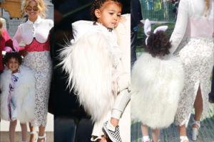 Córka Beyonce i Jay-Z w wielkim, białym futrze (ZDJĘCIA)