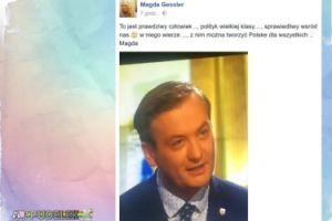 """Gessler wspiera Biedronia: """"Z  nim można tworzyć Polske dla wszystkich"""""""