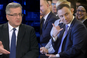"""Komorowski o Dudzie: """"Pan prezydent abdykował już jako zwierzchnik!"""""""