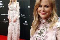 Nicole Kidman w romantycznym różu na czerwonym dywanie