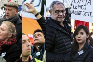 Politycy i celebryci na marszu przeciwko rządom PiS (ZDJĘCIA)
