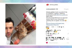 Filip Bobek robi selfie z kotem (FOTO)