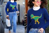 #TRENDY: Selena Gomez w swetrze z dinozaurem