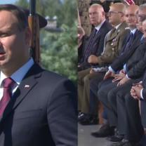 Prezydent Duda odsłonił tablicę upamiętniającą Lecha i Marię Kaczyńskich