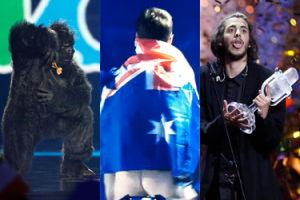 Tańcząca małpa, gołe pośladki fana i sztuczne uśmiechy prowadzących: tak wyglądała Eurowizja w Kijowie (ZDJĘCIA)