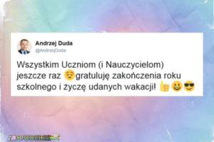 Andrzej Duda życzy udanych wakacji