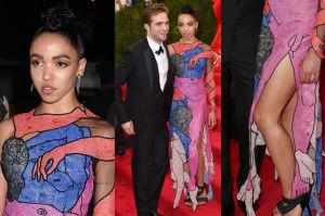 Dziewczyna Pattinsona z... PENISEM na sukience! (ZDJĘCIA)