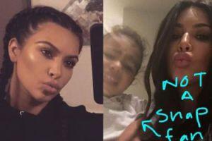 Córka Kim boi się Snapchata...