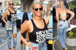Beyonce w dziurawych spodniach za 150 złotych! (ZDJĘCIA)