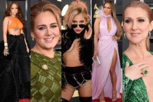 Grammy 2017: Gaga, Rihanna, Lopez, Dion, Adele... (ZDJĘCIA)