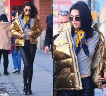 #TRENDY: Kendall Jenner w złotej puchówce