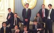 Dzieci brytyjskich elit na spotkaniu z Putinem