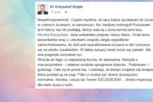 """Krzysztof Gojdź o ciąży Kuszyńskiej: """"Podziwiam i gratuluję"""""""