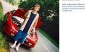 28-letni Wojewódzki na tle samochodu