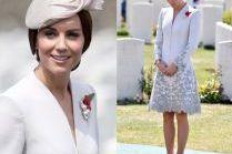 Rozmodlona Kate Middleton w haftowanej sukience
