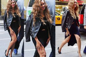 """Beyonce zasłania udo! """"MA CELLULIT i wstydzi się go pokazać"""" (ZDJĘCIA)"""
