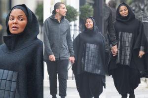 """Ciężarna Janet Jackson w """"hidżabie"""" z muzułmańskim mężem (ZDJĘCIA)"""