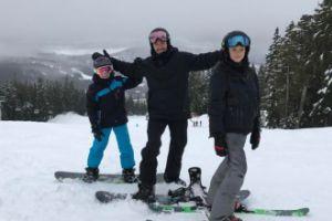 Rodzina Beckhamów na nartach (FOTO)