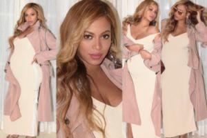 Beyonce chwali się ciążowym brzuszkiem i złotymi butami od Gucci (ZDJĘCIA)