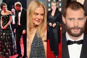 Gwiazdy na rozdaniu BAFTA 2017: Streep, Kidman, Dornan oraz William i Kate (ZDJĘCIA)