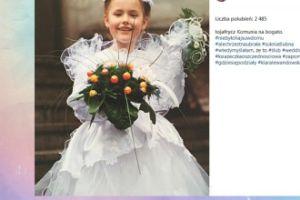 Olga Frycz przypomina zdjęcie z komunii