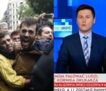 """TVP Info o bójkach w Katalonii: """"Bruksela pozwala PAŁOWAĆ LUDZI, a nam ZABRANIA ZWALCZAĆ KORNIKA!"""""""