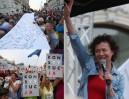 """Tak wyglądał protest """"3 razy weto"""" w Warszawie! (ZDJĘCIA)"""