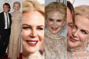 Nicole Kidman próbuje się uśmiechać... (ZDJĘCIA)