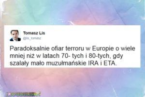 """Lis: """"Ofiar terroru w Europie o wiele mniej niż w latach 70- tych i 80-tych"""""""