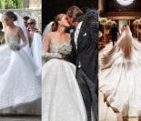 """Dziedziczka rodu Swarovskich wzięła ślub w """"kryształowej"""" sukni ważącej 49 KILOGRAMÓW za ponad 3,4 MILIONA!"""