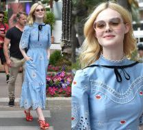 19-letnia Elle Fanning spaceruje po Cannes