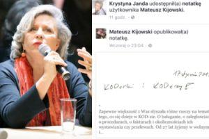Janda wspiera Kijowskiego w walce z kolegami z KOD i komornikiem