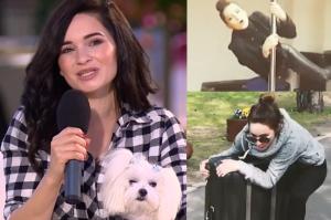 """Lisowska z psem w DDTVN promuje nowy teledysk: """"Jeżdżę na walizce, można zobaczyć istne szaleństwo"""""""