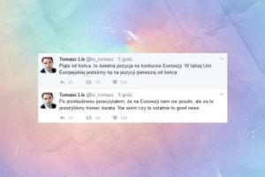 """Tomasz Lis komentuje Eurowizję: """"Piąte od końca, to świetna pozycja na konkursie Eurowizji"""""""