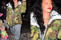 Rihanna w kurtce moro za 14 tysięcy