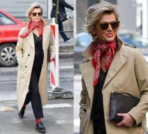 #TRENDY: Magda Mołek w beżowym płaszczu